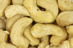 Handful of cashew kernels background Royalty Free Stock Images