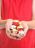 Handful of chocolates Stock Photos