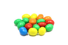 A handful of chocolates in a colored glaze Stock Image