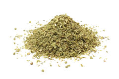 A handful of chopped oregano leaves Stock Images