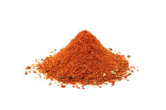 A handful of chopped red spices Royalty Free Stock Images