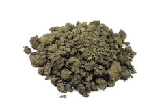 a handful of clay soil Stock Photo