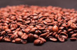 Handful of coffee beans Royalty Free Stock Image