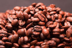Handful of coffee beans Royalty Free Stock Photography