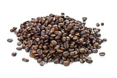 A handful of coffee beans Stock Image