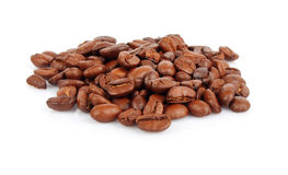 Handful of coffee beans Stock Image