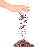 Handful of a coffee Stock Photo