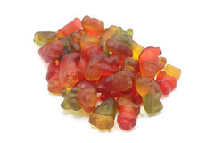 Handful of colored molded jellies Royalty Free Stock Images