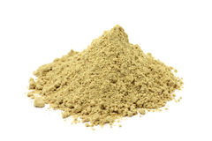 A handful of crushed ginger powder Stock Photography
