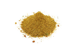 A handful of crushed spices and herbs Stock Photos