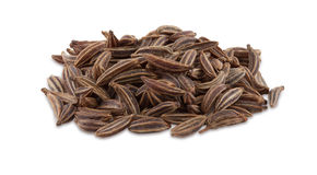 A handful of cumin seeds. Royalty Free Stock Photo