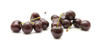 Handful of dark cherries Royalty Free Stock Photos