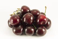 Handful of dark red sweet cherry Stock Photography