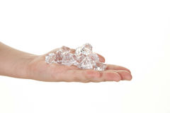 Handful of diamonds Stock Photo