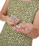 Handful of diamonds Stock Photos