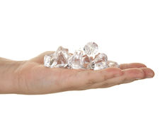 Handful of diamonds Stock Photography
