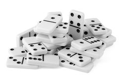 Handful of dominoes Royalty Free Stock Photos