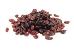 A handful of dried cranberries Royalty Free Stock Images