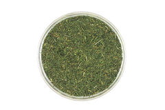 A handful of dried dill in a glass cup Stock Image