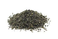 A handful of dried green tea leaves Stock Image