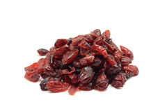 A handful of dried red cranberries Stock Images