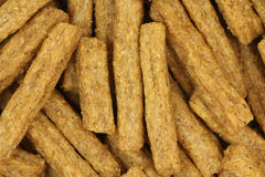 A handful of dried rye crackers background Royalty Free Stock Images