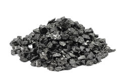 A handful of the fine fraction of coal Stock Photo