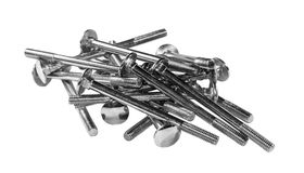 A handful of fixing bolts Royalty Free Stock Images