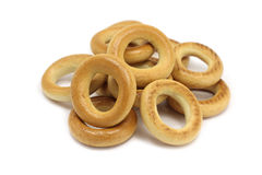 Handful of fresh bread rings Stock Photo