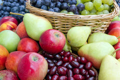 Handful of fresh fruits Stock Photos