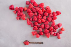 Handful of fresh raspberries, Royalty Free Stock Photo