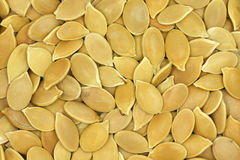 A handful of golden pumpkin seed  background Royalty Free Stock Images