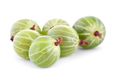 A handful of gooseberry isolated on white Stock Photo