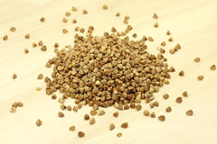 A handful of grains of buckwheat Royalty Free Stock Photos