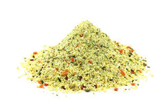 A handful of granular seasoning with vegetables Stock Image