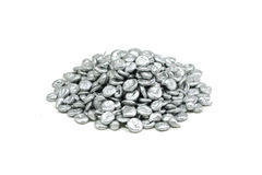 A handful of granular zinc Royalty Free Stock Images