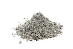 Handful of gray ash stock images