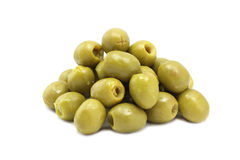 A handful of green olives Royalty Free Stock Images