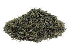 A handful of green tea Royalty Free Stock Image