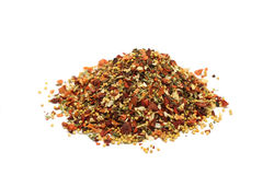 A handful of grinding spices and vegetables Royalty Free Stock Photos