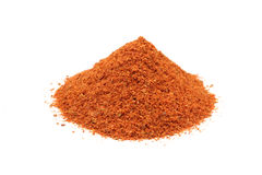 A handful of ground chili powder Royalty Free Stock Image