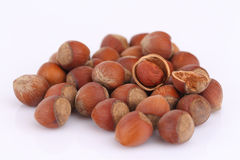 Handful of hazelnuts Royalty Free Stock Photos