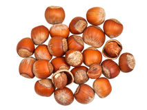 Handful of hazelnuts isolated Royalty Free Stock Images