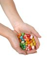 Handful of jelly beans Royalty Free Stock Photo