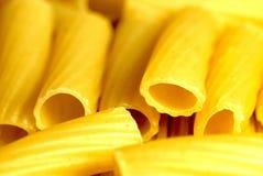 Handful of macaroni close up Stock Photo