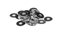 A handful of metal washers Stock Images