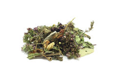 A handful of the mixture of herbs Stock Image