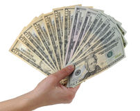 Handful of money Stock Photos