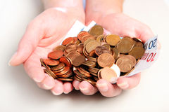 Handful of money Royalty Free Stock Images