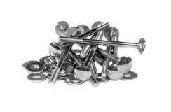A handful of the mounting bolts and washers Royalty Free Stock Image
